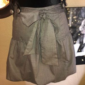 boutiqu Dresses - Shimmery Suspender Puff Pleat Skirt Fit